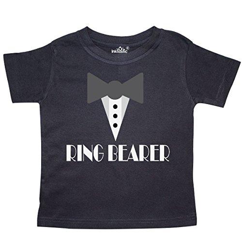 inktastic - Ring Bearer Mock Tux Tuxedo Toddler T-Shirt 3T Black -
