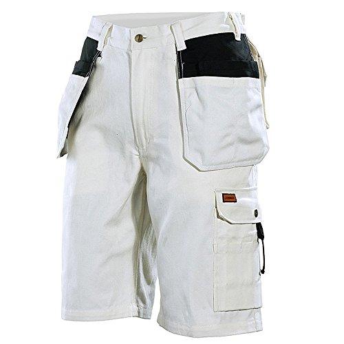 JOBMAN Workwear Men's Painter's Work Shorts White/Black 42 by JOBMAN Workwear
