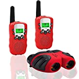 JRD&BS WINL Compact 8x21 Shock Proof Binoculars Toys for 7 8 Year Old Boys, Long Range Kids Walkies Talkies for Outdoor Travel Hunting Boy Gifts Age 3-12 Girls &Gifts Age 3-12(Red)