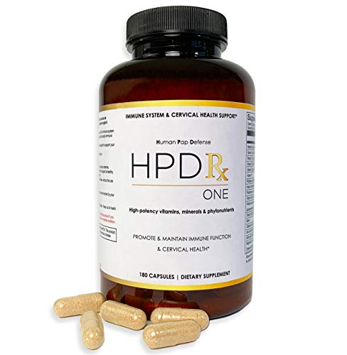HPD Rx ONE - High Potency Multivitamin Supplement - Promotes Immune System Support, Reproductive Health for Men, Cervical Health for Women - 180 Capsules - Natural HPV Response
