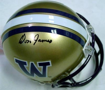 - Don James Autographed Washington Huskies Mini Helmet