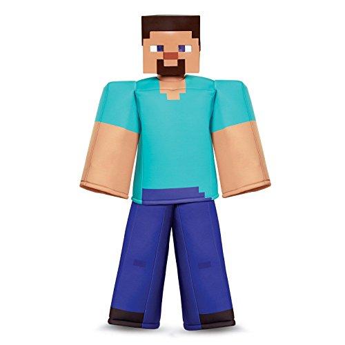 Disguise Steve Prestige Minecraft Costume, Multicolor, Large (10-12)