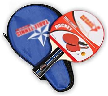 トレーニング卓球ラケット、ファミリーレジャースポーツ エクササイズラケット シングル (Color : Blue)