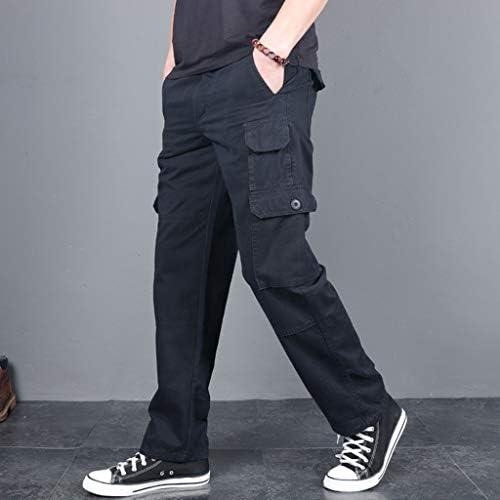 男性の新しいファッションカジュアル屋外固体作業ズボンマルチポケットロングパンツ