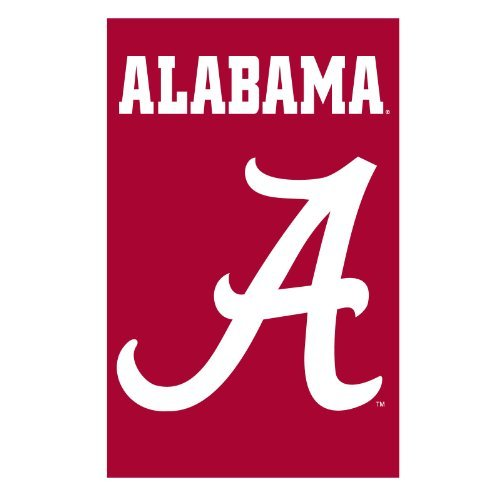Party Animal Sports Fan NCAA Team Alabama Crimson Tide Applique Banner Flag