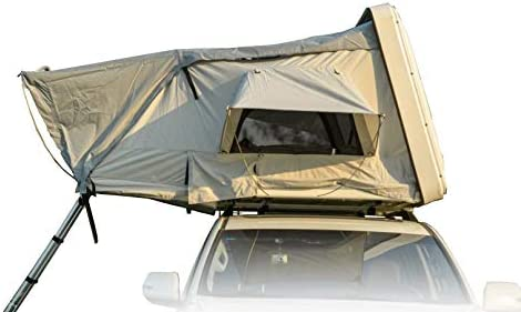 AirBedz by Pittman Outdoors Sky_HS2.1GR_B Tent: Green w/Red Wine Trim Case: Black Hard Shell Rooftop Covered Ladder Access, Sleeps up to 4 People on a High...