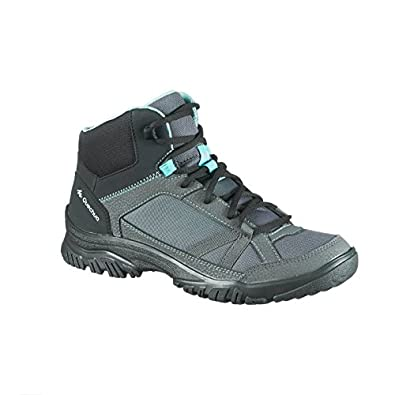 4ab9340aad2 Quechua NH 100 Mid Women's Nature Hiking Boots - Grey Blue