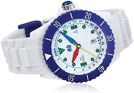 40Nine Japanese-Quartz Watch with Silicone Strap, White, 21.3 Model 40NINE02 FUN10
