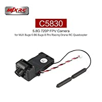 Ququack MJX C5830 5.8G 720P FPVカメラリアルタイム画像300m RC Quadcopterスペアパーツfor MJX Bugs 6 Bugs 8 Pro RC Racing Drone(カラー:Black)の商品画像