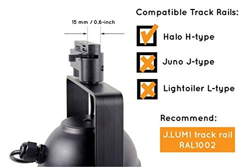 J Lumi Trk9001 Theater Style Track Light Fixture
