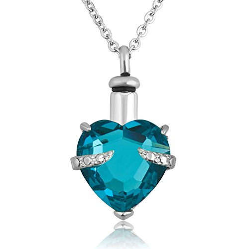 Birthstone Heart Necklace - 3