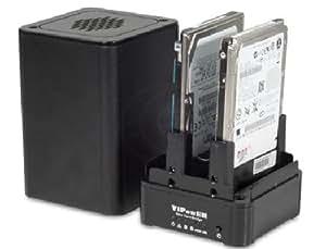 Cablematic - Caja Externa VIPower SATA-HDD a eSATA+USB2 (2xHDD 2.5 RAID)