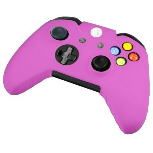 Goliton 2X soft silicone protective sleeve case skin cover for XBOX ONE Controller - Pink