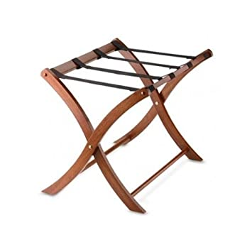 Wonderful Folding Luggage Rack. Portable Wood Suitcase Stand. Classic Design Folds  Away For Easy Storage