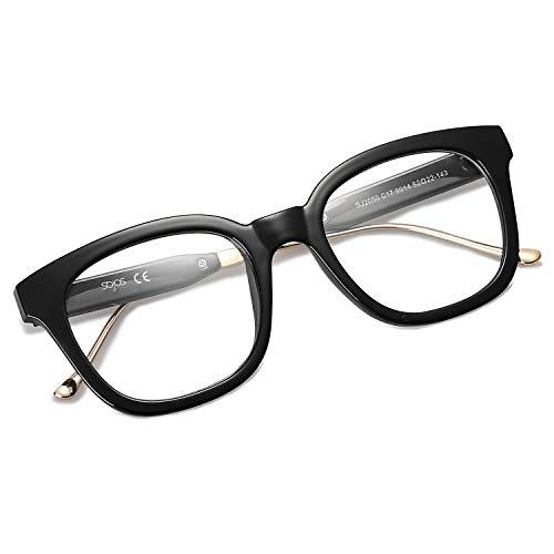 SOJOS Classic Polarized Sunglasses for Women Men Mirrored Lens SJ2050 (02050D17 Black Frame/Anti-blue Light Lens, Multicoloured)