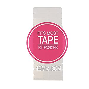 Hair Extensions Tape EXTRA Hold Compatible with Hot Heads, Hairdreams, Babe & Most Other Brands, 4cm x .8cm Hair Extension Tape, Professional Double Sided Extension Tape