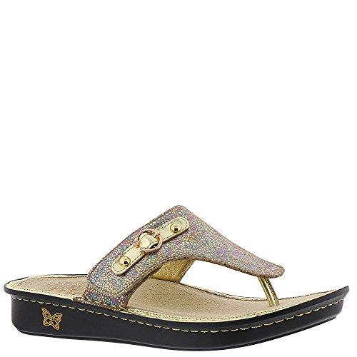 """Alegria Women's""""Vanessa"""" Thong Sandal- Sand Do's- 39 M EU (9 US)"""