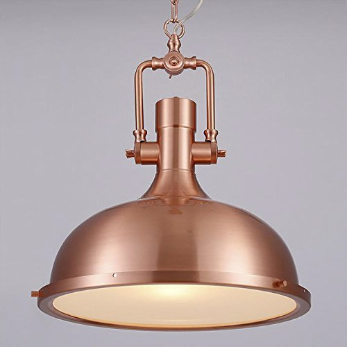 Light Copper Pendant (Industrial Nautical Style Single Pendant Light-LITFAD 15.15