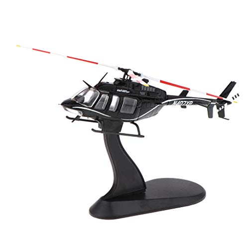 DYNWAVE 1/72 Alloy Diecast Helicopter Model Airforce Aircraft Plane Model Kids Toys Birthday Gifts (Black) ()