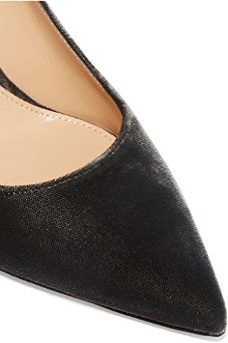 EDEFS Damen High Heels Klassische Pumps Geschlossene Spitze Zehen Übergröße Schuhe 8cm Absatz Samt