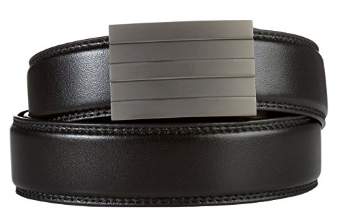 "KORE Men's Track Belt | ""Endeavor"" Buckle & Full-Grain Leather Belt"