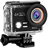 Esoku Action Camera, 20MP Ultra HD Waterproof Sports Camera 1080P 4K WiFi Underwater DV Camcorder With Accessories Kits