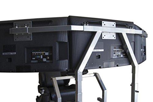 GTR Simulator - GTA Triple Monitor Stands - Large 3 x 39 - Silver Color
