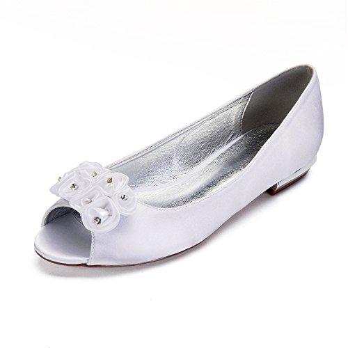 Blume Schuhe Low Zxstz Tanz Schuhe Hochzeit Lace Party Frauen Schuhe Satin Heel Braut Kleid fPCw7qPY