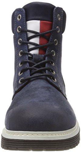 Hilfiger Stivali Tommy Blu Iconic Combat Denim Uomo Suede Ink Boot 006 Jeans qWq4Rn7r