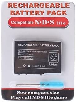 Rechargeable Battery Pack for Nintendo DS Lite + Screw(2000mAh ...