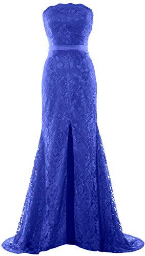 Mermaid Women Blue Dress Wedding Gown Party Prom Royal Evening Formal MACloth Strapless w45CZqq