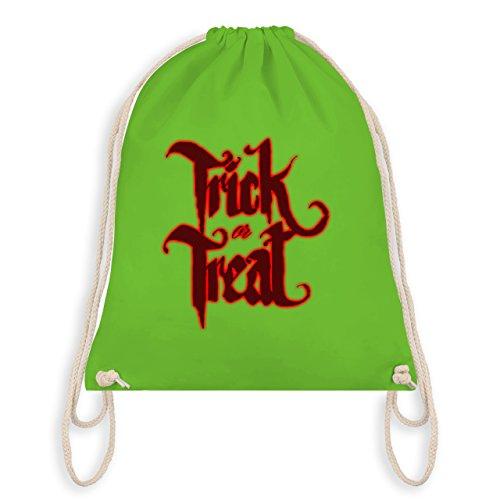 Shirtracer Halloween - Trick or Treat Halloween Typo - Turnbeutel I Gym Bag Hellgrün