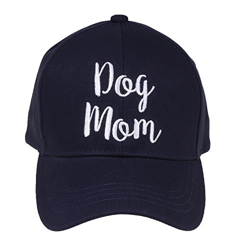 H-2018-DM-31 Saying Baseball Cap - Dog Mom (Navy)
