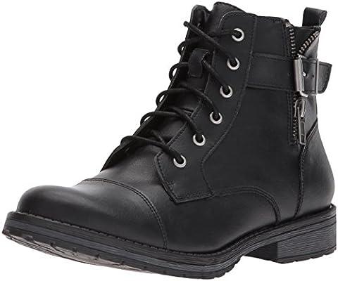 Madden Girl Women's Mirra Combat Boot, Black Paris, 8 M US - Footwear Combat Boots