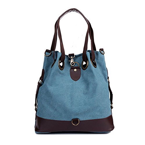 Hobo Catkit Womens Bag Canvas Tote Handbag Large Shoulder Blue Purse xH1HgYwq