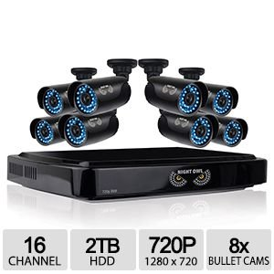 Night Owl AHD7-1682 16CH 720P HD Video Security System