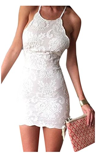 Backless Solid Hip Lace White Dress Bandage Colored Strap Coolred Pencil Women wcqRWpE0q