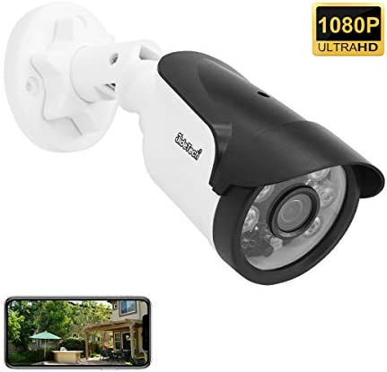 Bullet Security Camera, POE Power Over Ethernet 1080P Onvif IP Camera, 65ft Night Vision, H.265 Onvif Motion Detection, Remote Live Viewing Cameras for Home Security Indoor