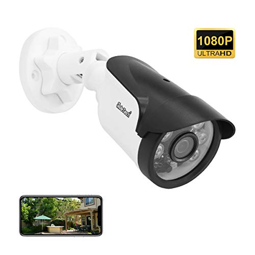 Bullet Security Camera, POE(Power Over Ethernet) 1080P Onvif IP Camera, 65ft Night Vision, H.265 Onvif Motion Detection, Remote Live Viewing Cameras for Home Security Indoor