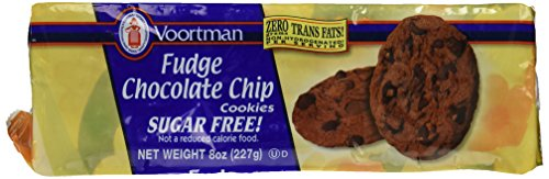 Voortman, Sugar Free, Fudge Chocolate Chip, 8oz Bag (Pack of - Chocolate Cookies Sugar Free