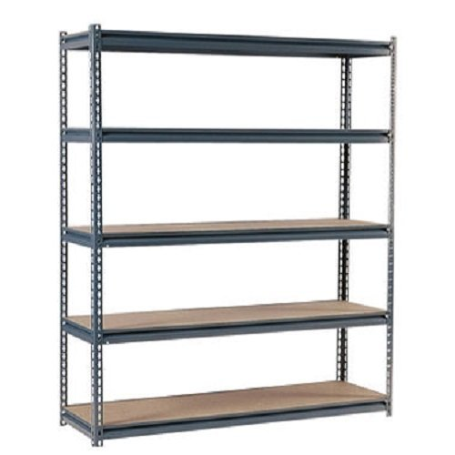 Edsal UR3672 Industrial Gray Shelving, 16-Gauge Steel, 5 Adjustable Shelves, 600 lb. Capacity, 72