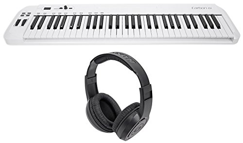 (Samson Carbon 61 Key USB MIDI DJ Keyboard Controller+Software+Headphones)