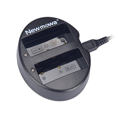 Newmowa Dual USB Charger for Olympus BLH-1 and Olympus OM-D EM1 Mark II, OM-D E-M1X Camera