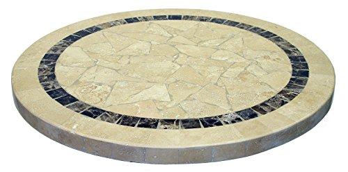 ATC ATCOstone Stone Veneer Sand Beige Pattern Round Table Top, 24
