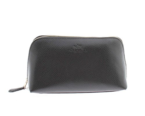 Coach COSMETIC LEATHER Pebble Black