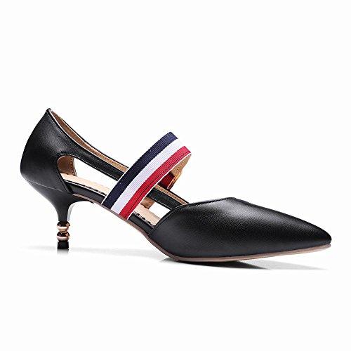 Shoes Dress Black Court Buckle Shoes Mee Women's w7dUEq74W