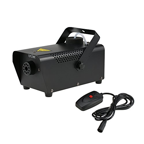 Tomshine 400W Portable Fog Machine for Halloween Party Wedding Stage Effect - Aluminum Casing - Wired Remote Control -