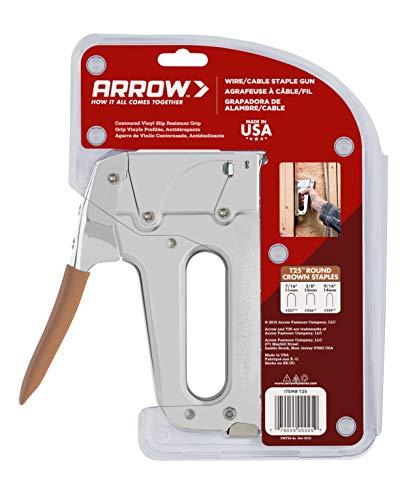Arrow Fastener T25 Low Voltage Wire Staple Gun, Fits up to 1/4-Inch Wires (Arrow T2025 Staple Gun)