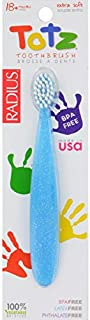 product image for Radius Totz Toothbrush 18+ Months - Extra Soft - Clear Sparkle- Case of 6 brushes