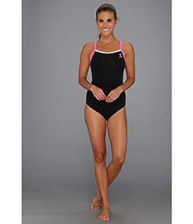 TYR Womens Durafast Lite Solid Brite Diamondfit One-PieceSwimsuit